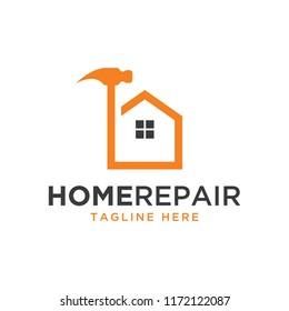 home repair , construction design logo template