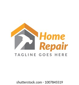 home repair construction logo icon vector template