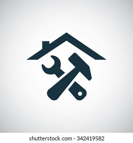 home repair icon, on white background