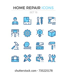 Home repair icons. Vector line icons set. Premium quality. Simple thin line design. Modern outline symbols, pictograms.