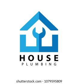 Home repair logo design template. Vector illustration