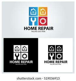Home repair logo design template ,Vector illustration