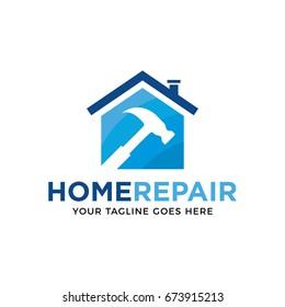 home repair logo icon vector template