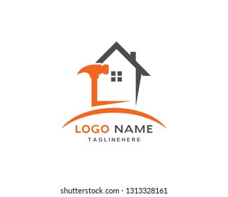 Home repair logo vector template