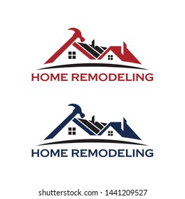 Home Repair and Remodeling logo, House maintenance vector logo design template