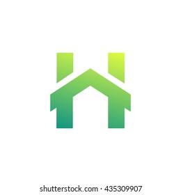 Home Repair Symbol. Real estate business. Creative Letter H logo