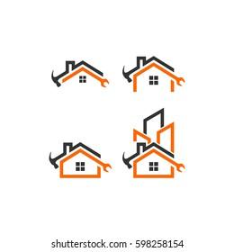 home repair vector logo