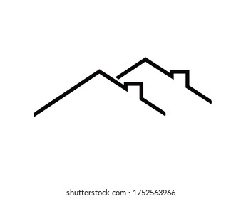 Home (roof) icon. Web. Vector Illustration