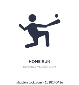 home run icon on white background. Simple element illustration from Sports concept. home run icon symbol design.