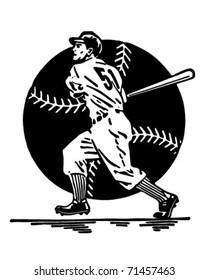Home Run - Retro Ad Art Illustration
