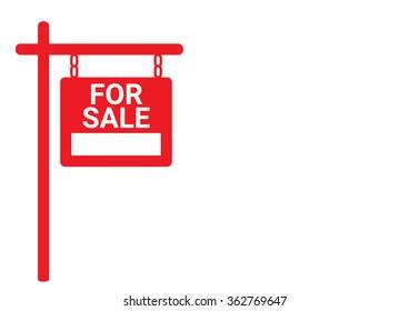 Home For Sale Real Estate Sign  . House Real Estate logo design