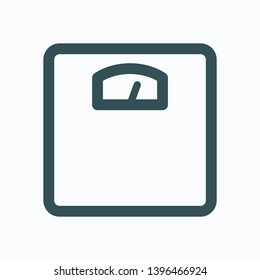 Home scales isolated icon, bathroom glass floor scales weight outline vector icon
