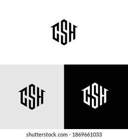 Home SCH Logo Modern Vector