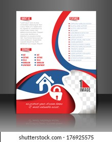 Home  Security Center Back Flyer Template