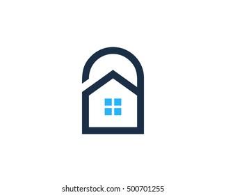 Home Security Logo Design Template