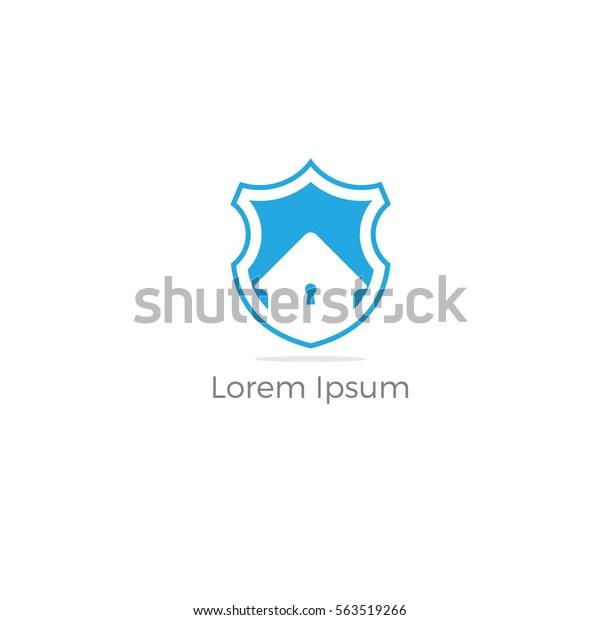 Home security logo icon.