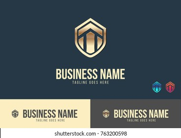 Home Security Logo Template Design Vector
