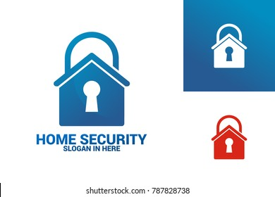 Home Security Logo Template Design