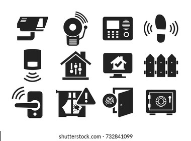 Home security and protection icon set 02