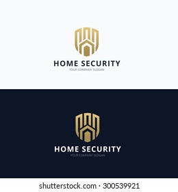 Home security and real estate logo template.
