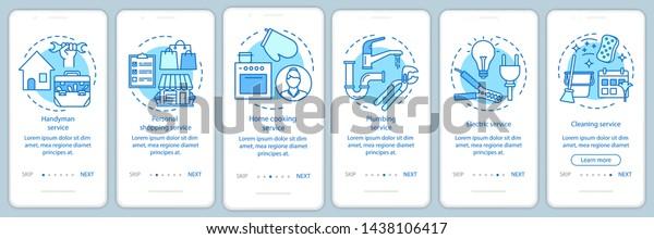 Vector de stock (libre de regalías) sobre Home Services