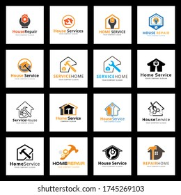 Home Services and Repair Logo. Vector And Illustration