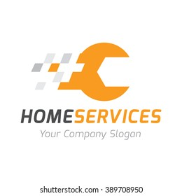 Home Services Tools Logo Template
