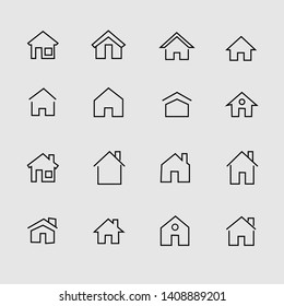 Home set icon vector.Premium symbols isolated on a white background