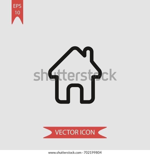 Home shape vector icon illustration symbol