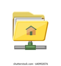 home sharing folder flat icon