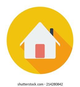 Home. Single flat color icon. Vector illustration.