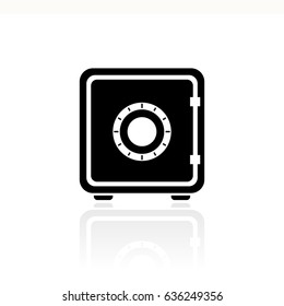 Home small safe box vector eps icon illustration isolated on white background