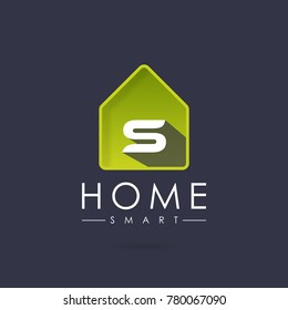 Home Smart, Initial Letter S Logo design