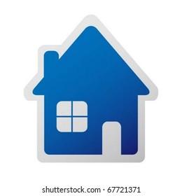 Home sticker icon