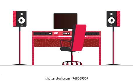 Music Studio Table Images Stock Photos Vectors Shutterstock