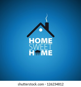 Home sweet home card - vector illustration