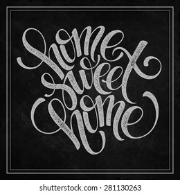home sweet home hand lettering, vector illustration Eps 10