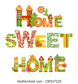 Home Sweet Home Sign, Vector Version