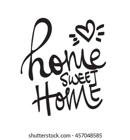 Home Sweet Home vector lettering word
