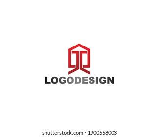 Home symbol identity logo and line shape design