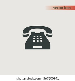 Home telephone icon, vector design