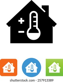 thermostat icon images stock photos vectors shutterstock