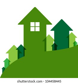Home Value, House Values And Prices Up, Vector Illustration