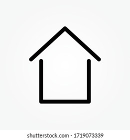 Home vector icon to be used in web applications, mobile applications and print media.