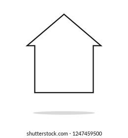 Home vector icon, eps 10