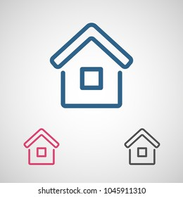 House Icon Stock Vector Royalty Free 178370765 Shutterstock