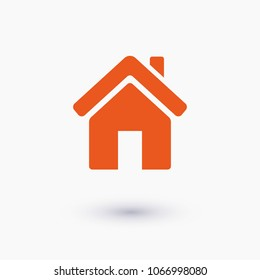 Home vector icon. House icon. Estate icon. Minimalist style.