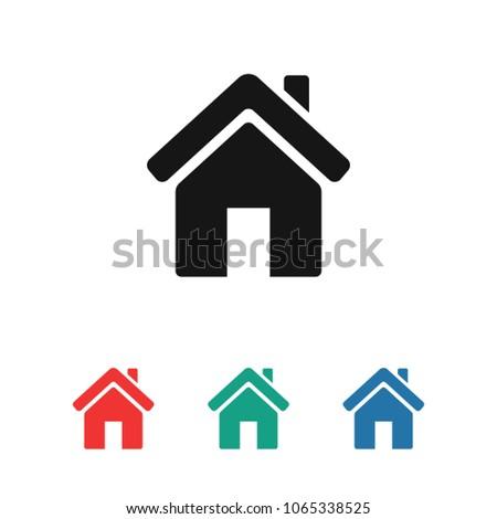 Home Vector Icon House Icon Estate Stock Vector Royalty Free