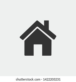 Home vector icon illustration sign