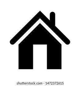 home vector icon illustration sign simple stock vector royalty free 1472372615 shutterstock